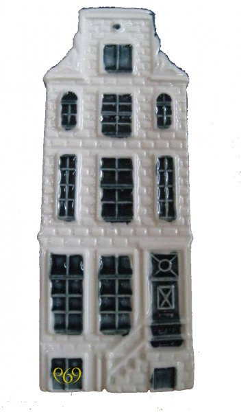 KLM Blue Delft Houses no,68 prinsengracht 969
